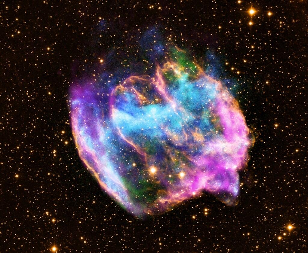 The remnant of supernova W49B, in Aquila.