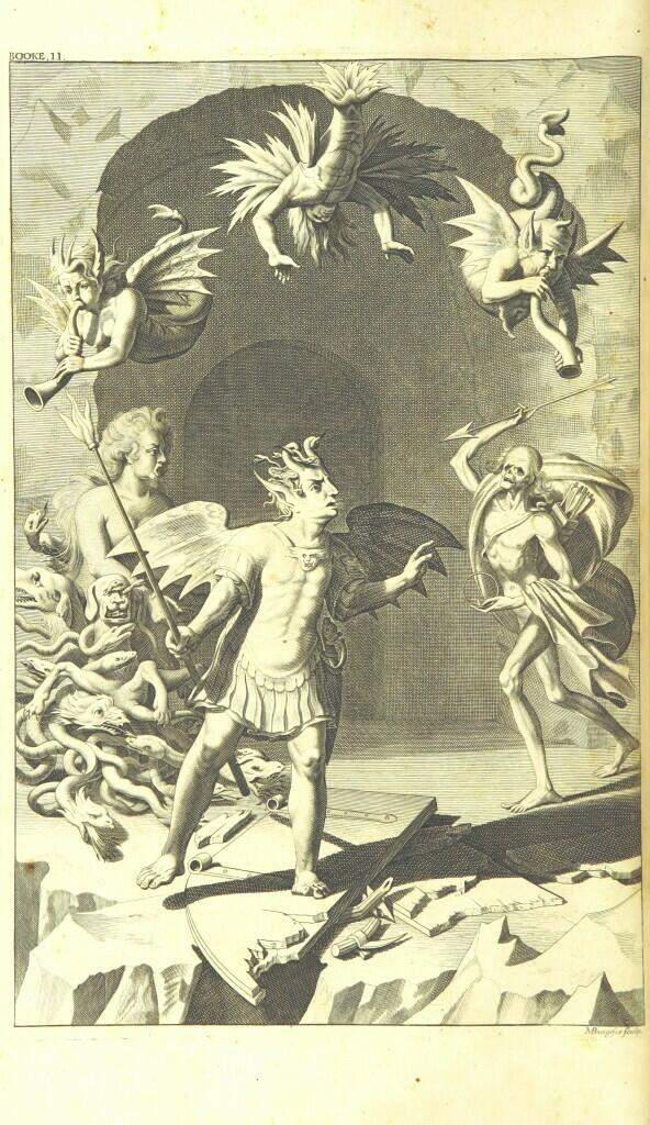"""""""Set Upon By Creatures"""", from """"Paradise Lost,"""" John Baptiste Medina."""