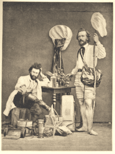 Ernst Haeckel (left) with fellow field biologist, Nicholi von Miclucho-Maclay. Canary Islands, 1866.